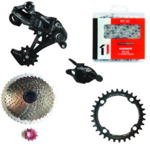Kit Mono 1x11 Sram Gx/Sunrace 11x46 Argent /One 34 dents (104)