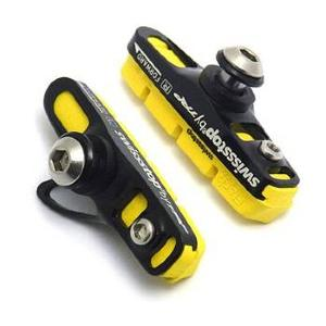 Porte patin route Swissstop Full Flash Pro Yellow King pour Jante Carbone SH/SR