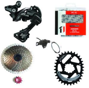 Kit Mono 1x11 Shimano RDM8000/Sunrace 11x46 Argent /TA One Ovale 34 dents Direct Mount (Sram)