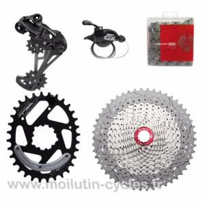 KIT Mono 1x12 Sram GX/Sunrace 11x50 Argent Mono plateau 34 dents Direct Mount